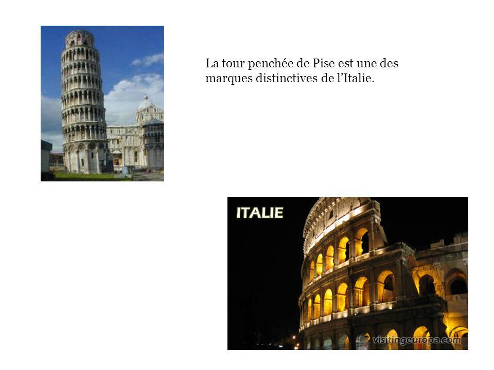 La tour penchée de Pise est une des