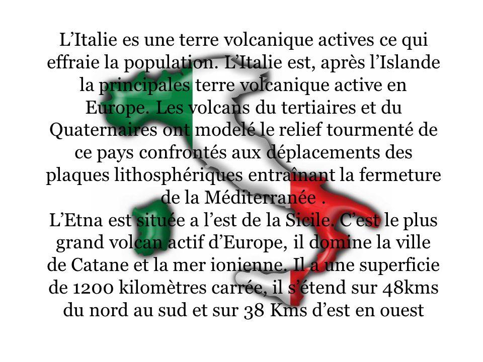 L'Italie es une terre volcanique actives ce qui effraie la population