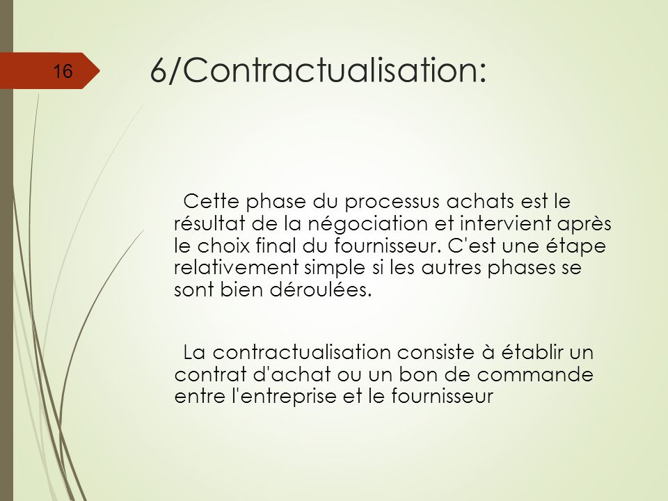 6/Contractualisation:
