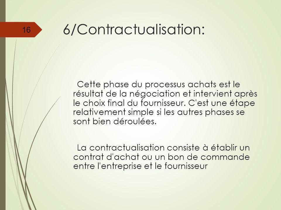 6/Contractualisation:
