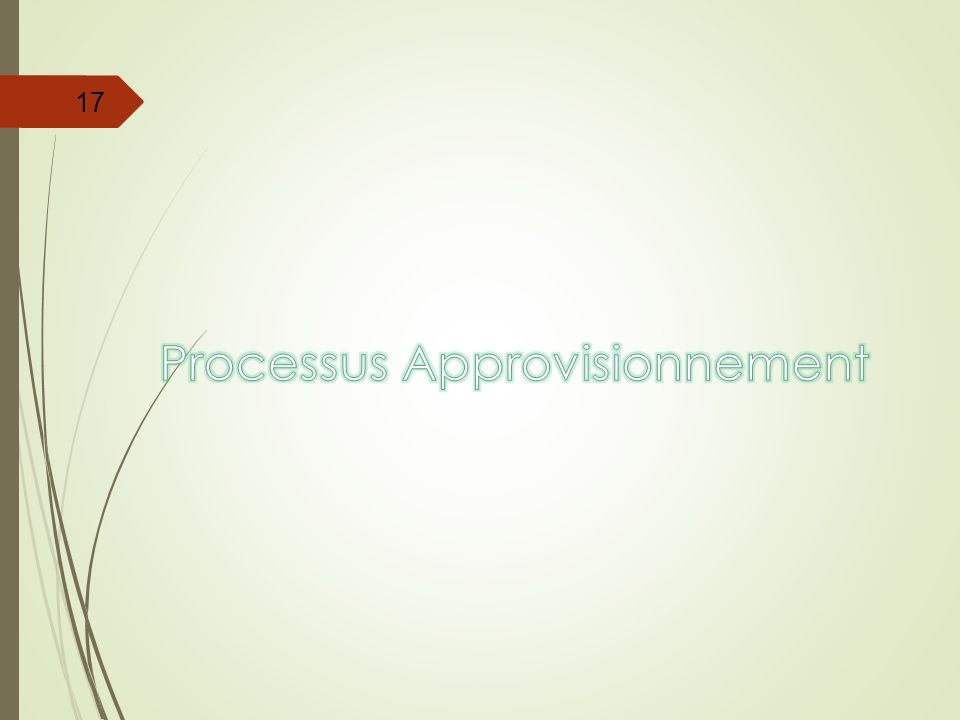 Processus Approvisionnement