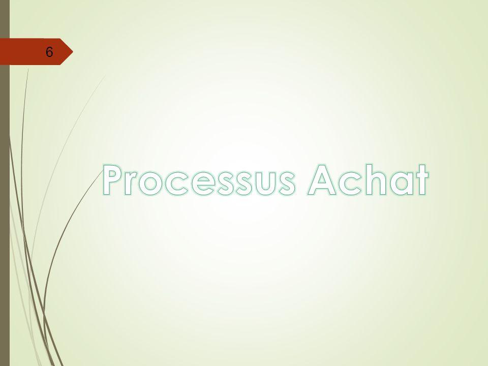 Processus Achat Le processus achat est un processus crucial dans la chaine logistique.