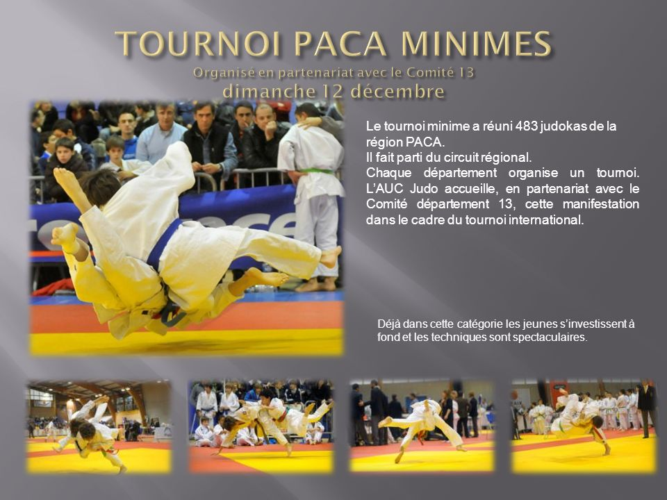 TOURNOI PACA MINIMES Organisé en partenariat avec le Comité 13 dimanche 12 décembre