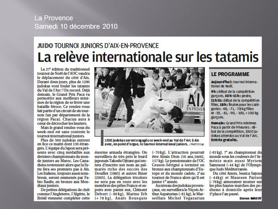 La Provence Samedi 10 décembre 2010
