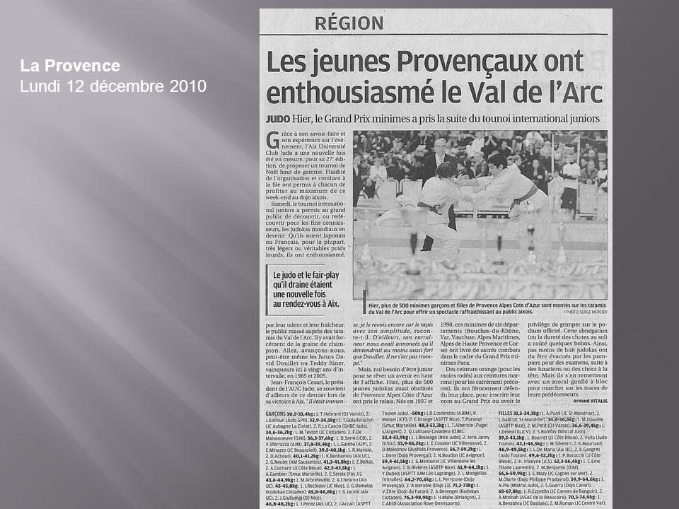 La Provence Lundi 12 décembre 2010
