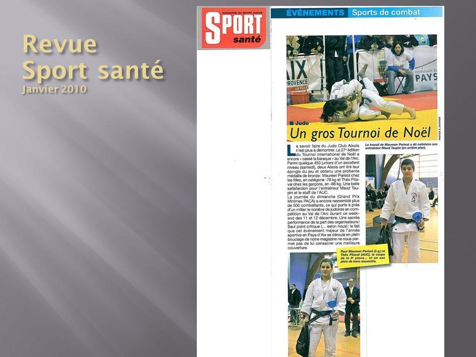 Revue Sport santé Janvier 2010