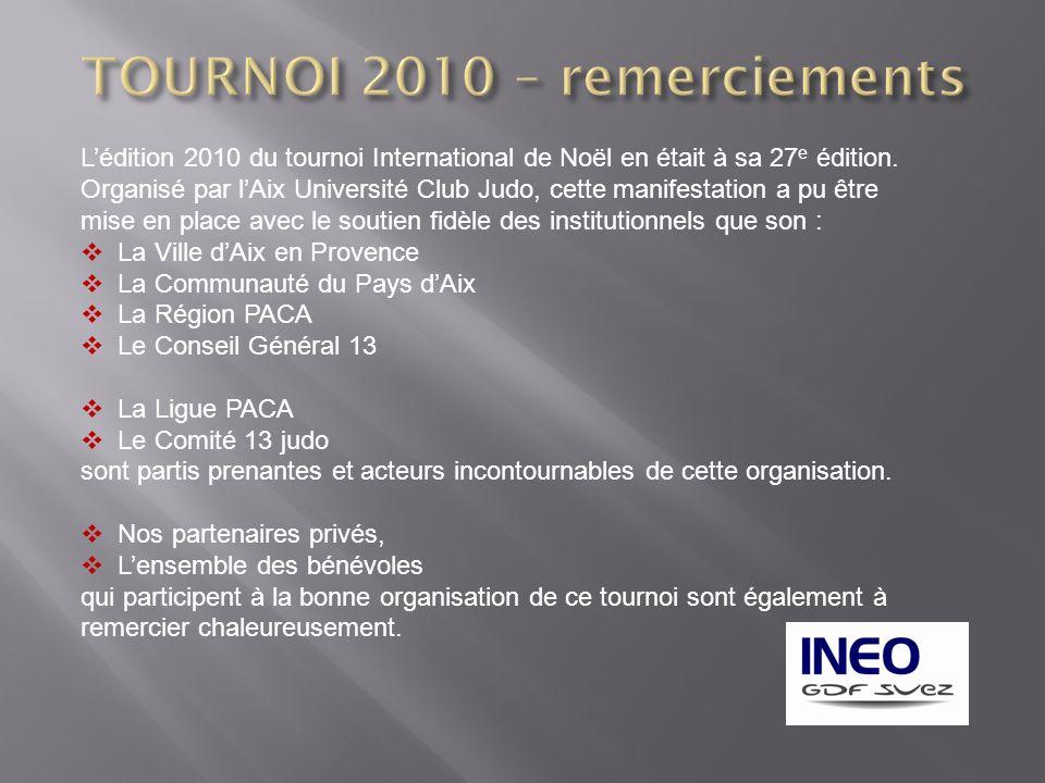 TOURNOI 2010 – remerciements