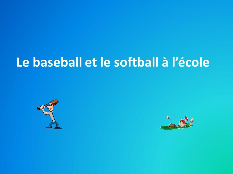 Le baseball et le softball à l'école
