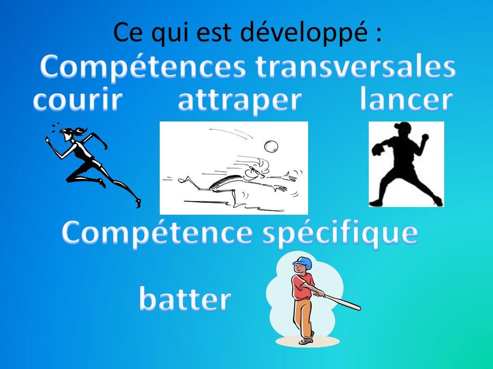 Compétences transversales Compétence spécifique