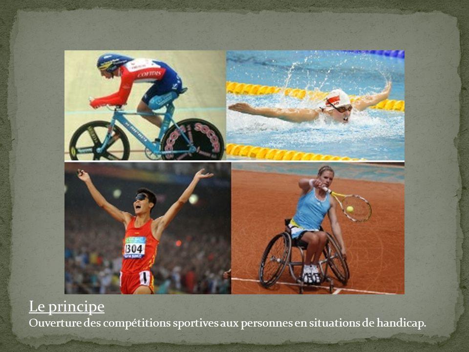 Le principe Ouverture des compétitions sportives aux personnes en situations de handicap.
