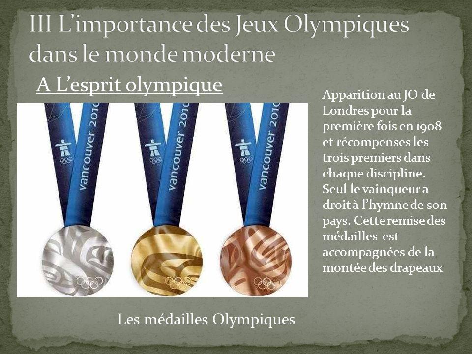 III L'importance des Jeux Olympiques dans le monde moderne