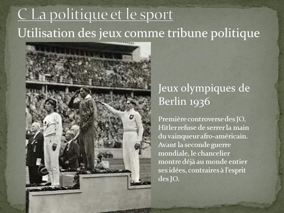 C La politique et le sport