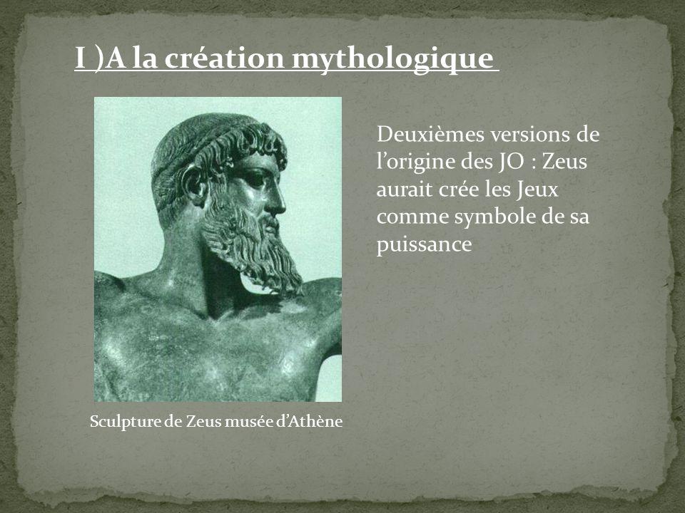 Sculpture de Zeus musée d'Athène