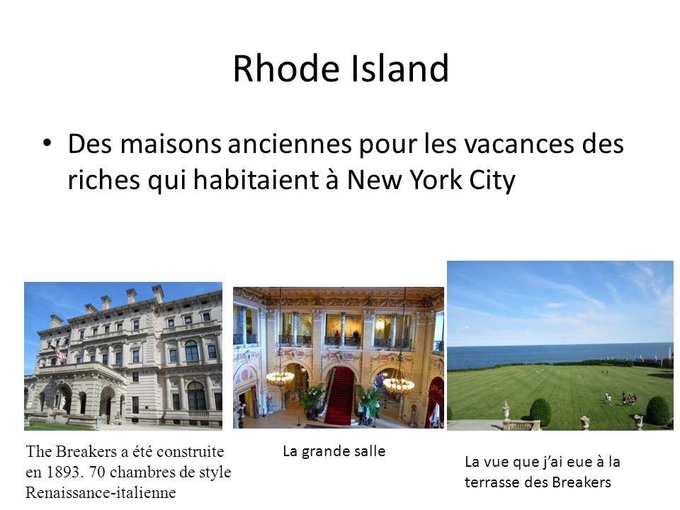 Rhode Island Des maisons anciennes pour les vacances des riches qui habitaient à New York City.
