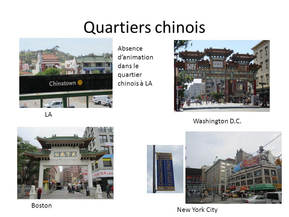 Quartiers chinois Absence d'animation dans le quartier chinois à LA LA