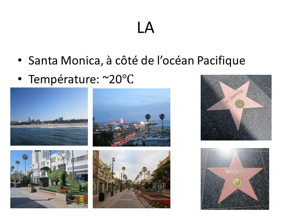 LA Santa Monica, à côté de l'océan Pacifique Température: ~20℃