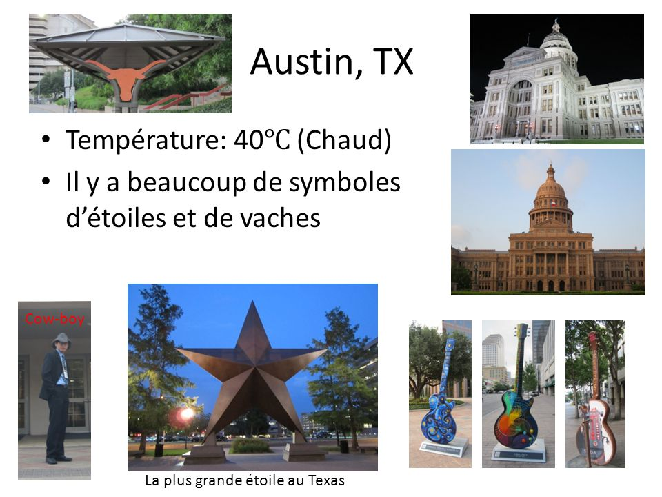 Austin, TX Température: 40℃ (Chaud)