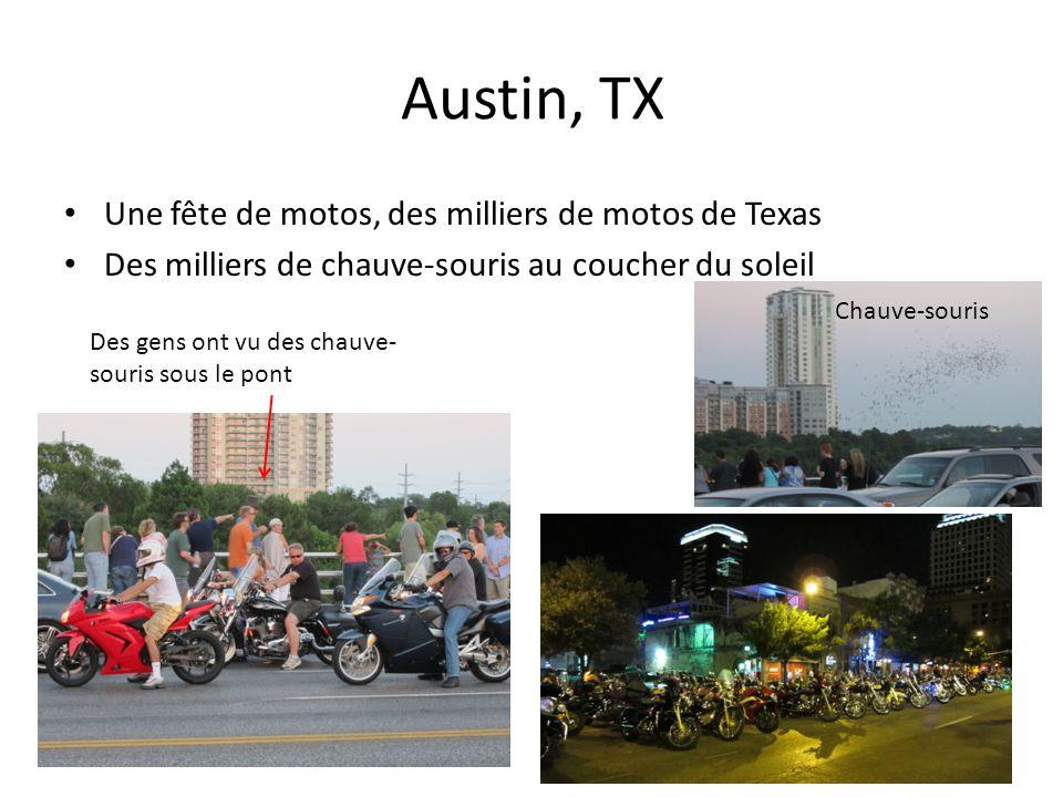 Austin, TX Une fête de motos, des milliers de motos de Texas