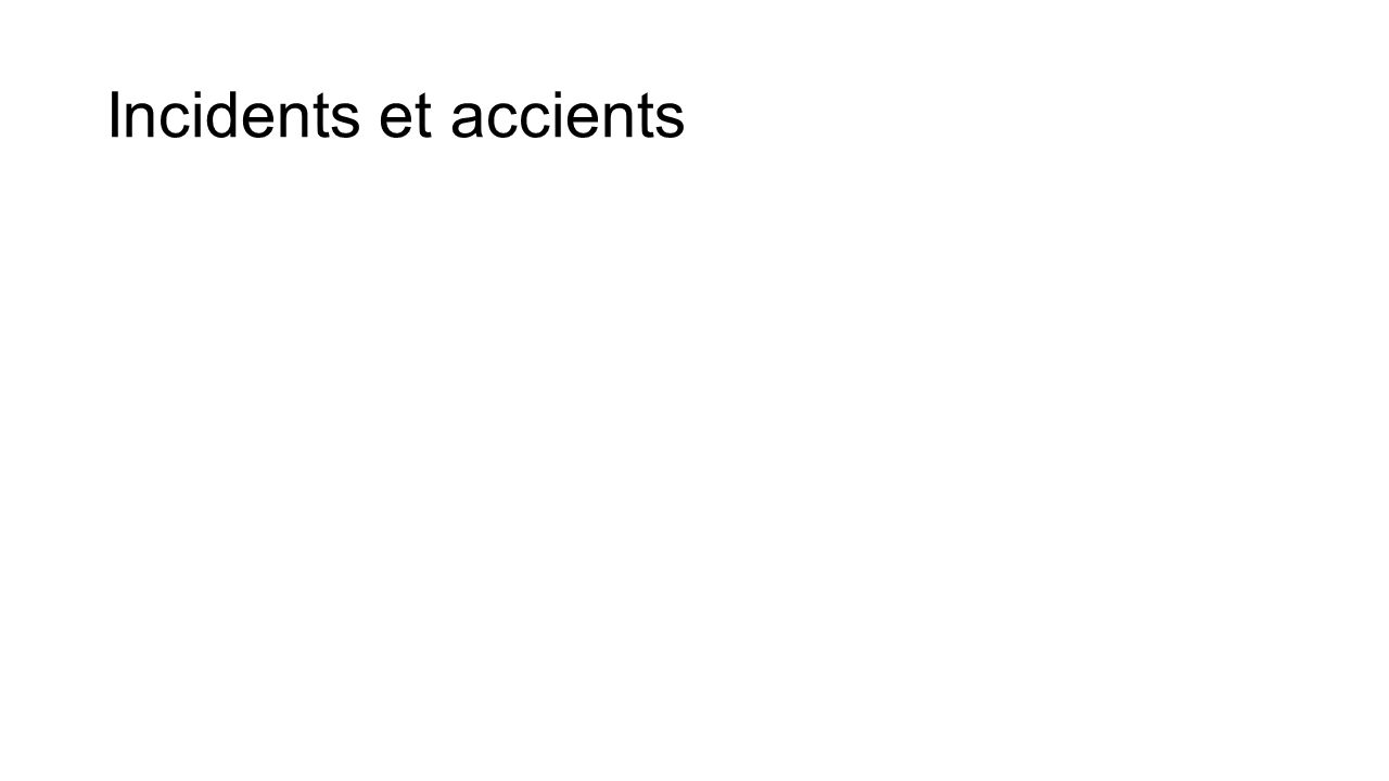 Incidents et accients