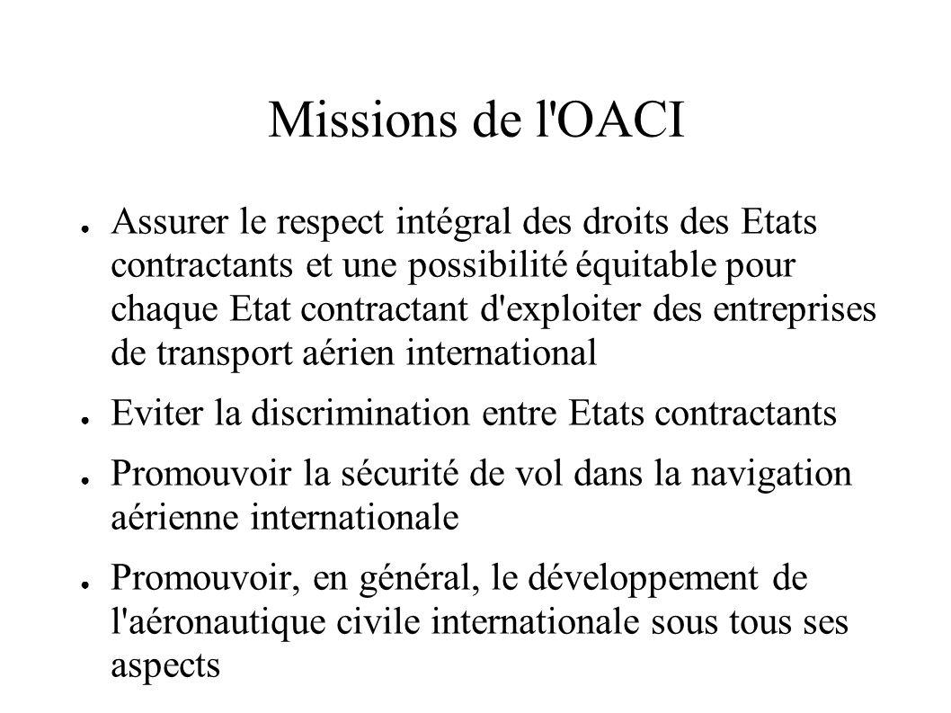 Missions de l OACI