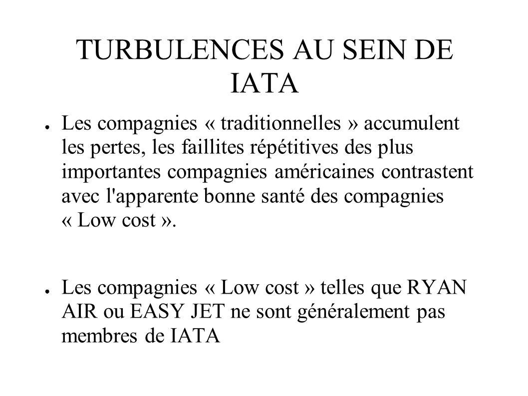 TURBULENCES AU SEIN DE IATA