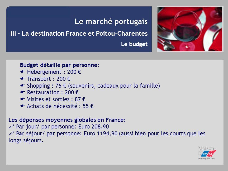 Le marché portugais III – La destination France et Poitou-Charentes