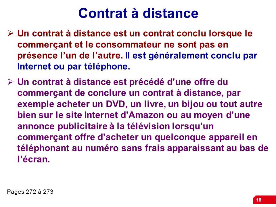 Contrat à distance