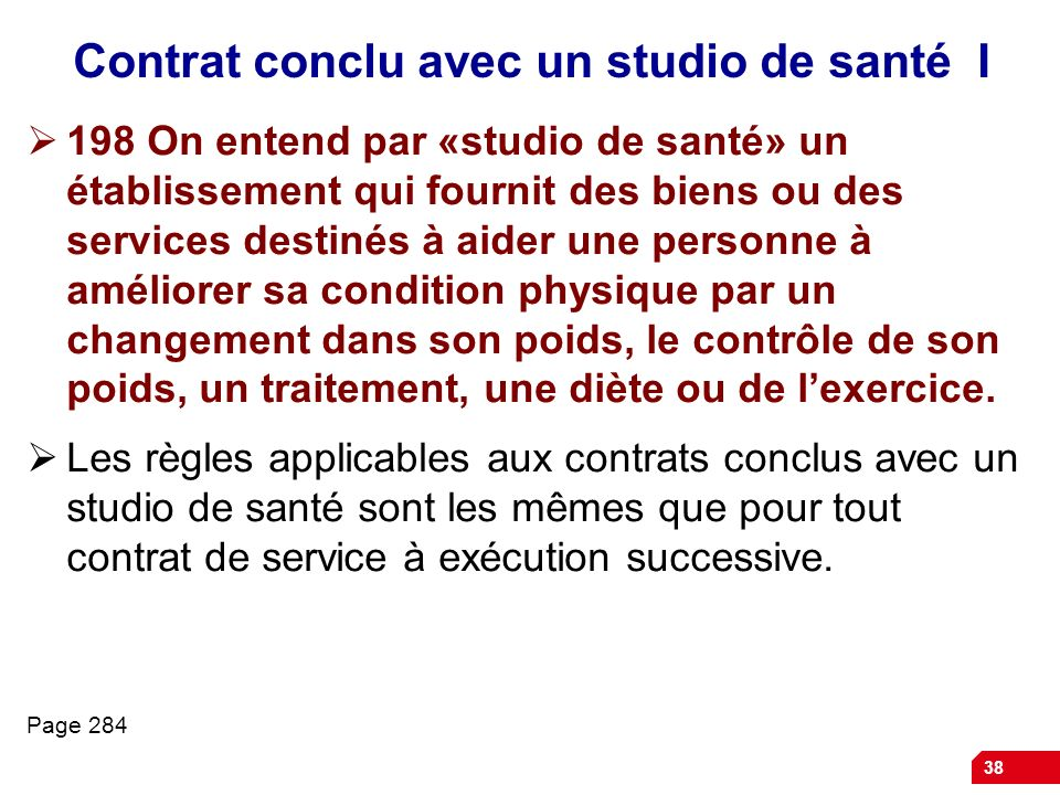 Contrat conclu avec un studio de santé I