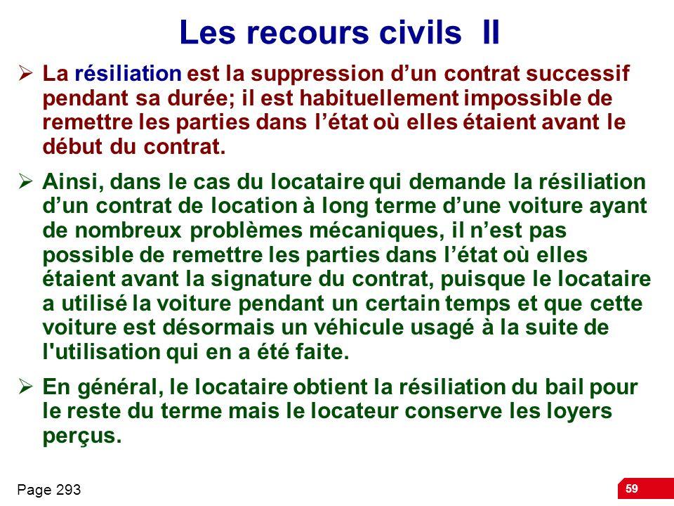 Les recours civils II
