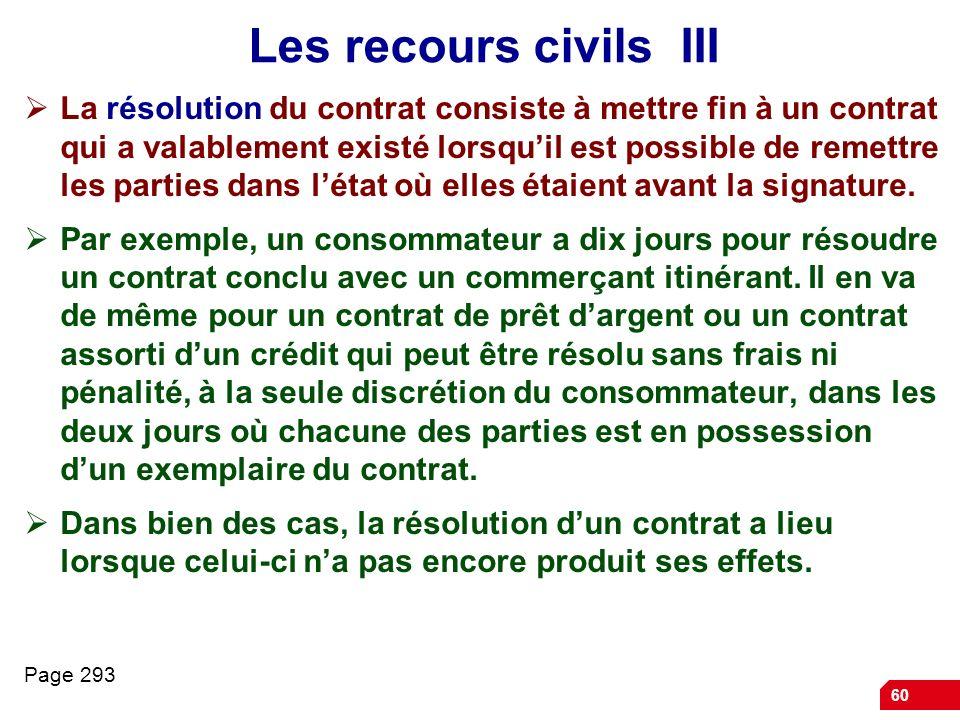 Les recours civils III