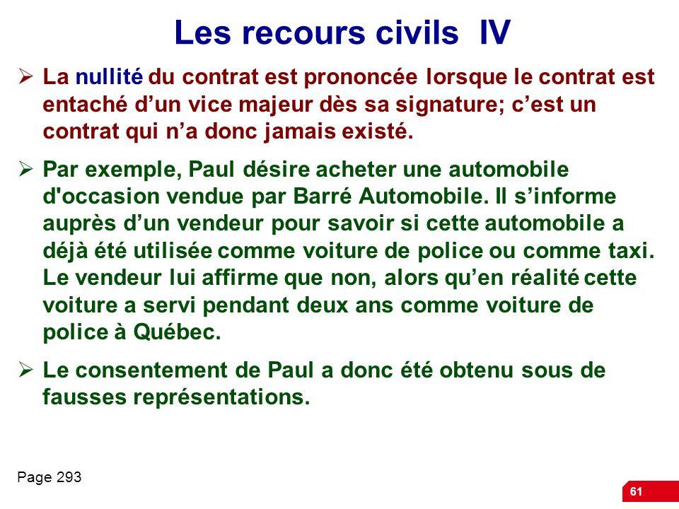 Les recours civils IV
