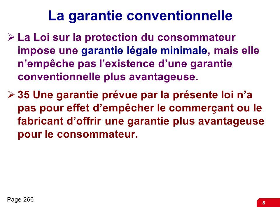 La garantie conventionnelle