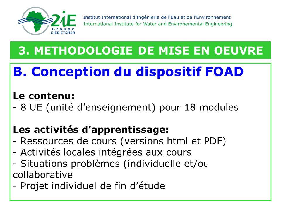 3. METHODOLOGIE DE MISE EN OEUVRE