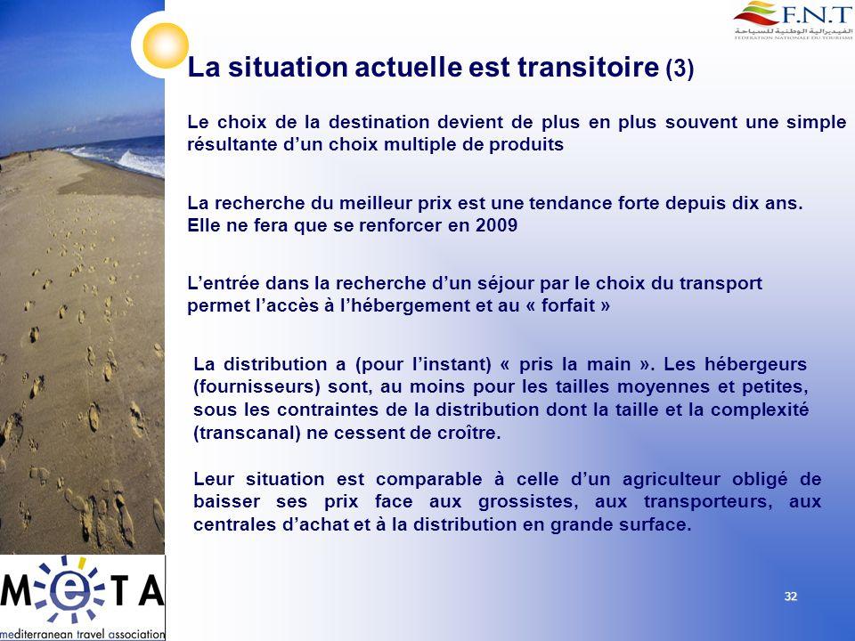 La situation actuelle est transitoire (3)