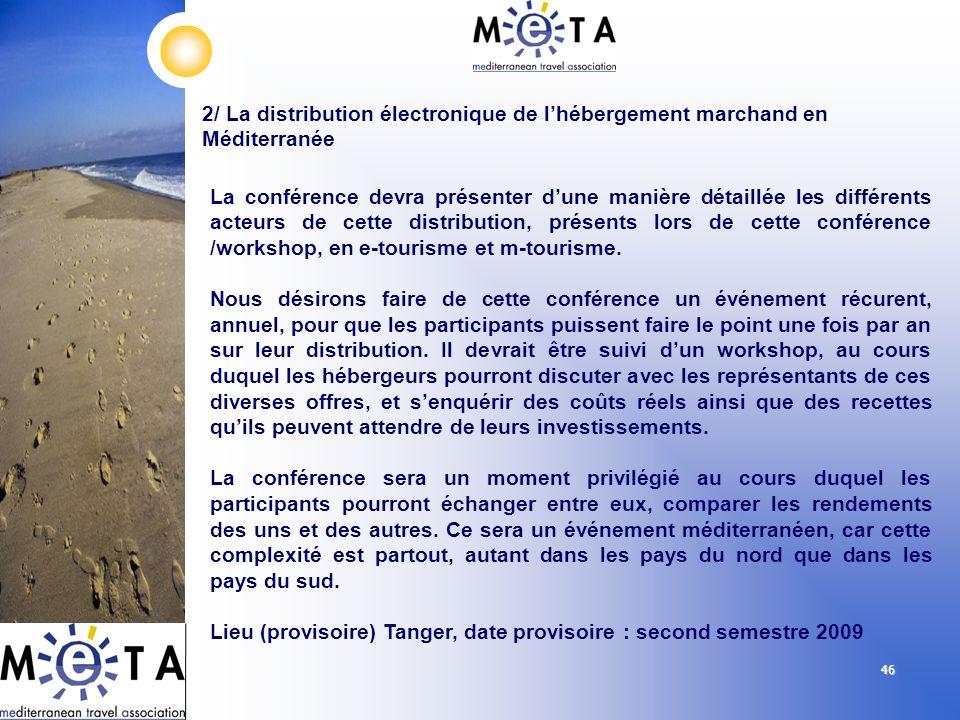 Lieu (provisoire) Tanger, date provisoire : second semestre 2009