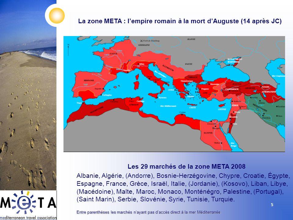 La zone META : l'empire romain à la mort d'Auguste (14 après JC)