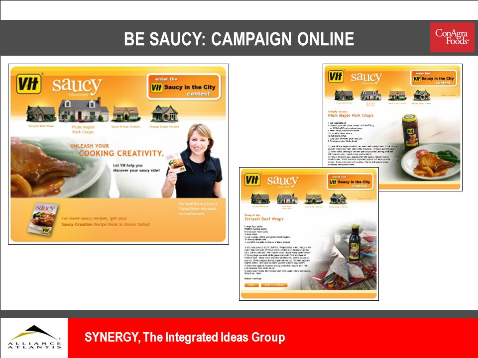 BE SAUCY: CAMPAIGN ONLINE