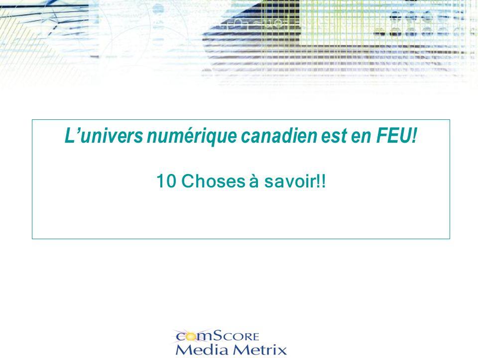 L'univers numérique canadien est en FEU! 10 Choses à savoir!!
