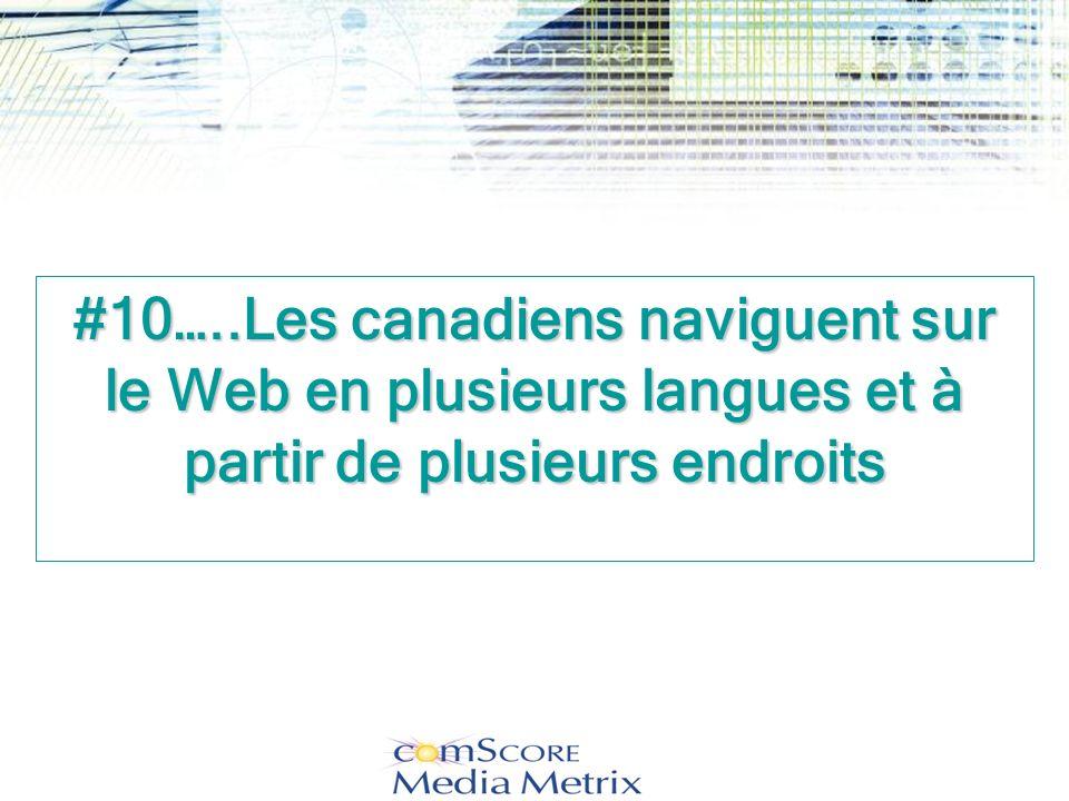 #10…..Les canadiens naviguent sur le Web en plusieurs langues et à partir de plusieurs endroits