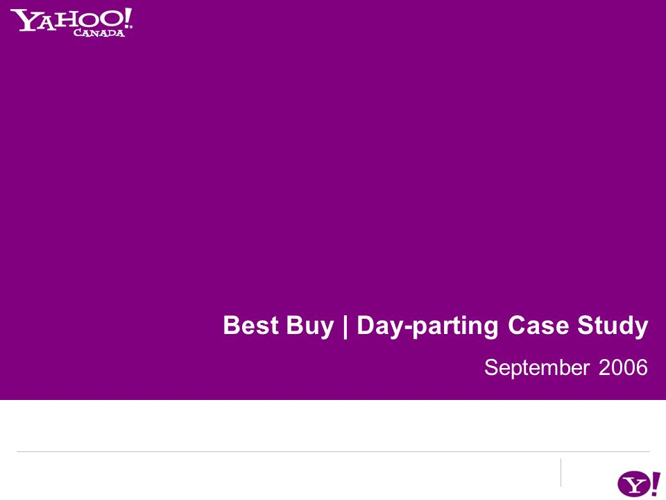 Best Buy: A Day-part Targeting Case Study