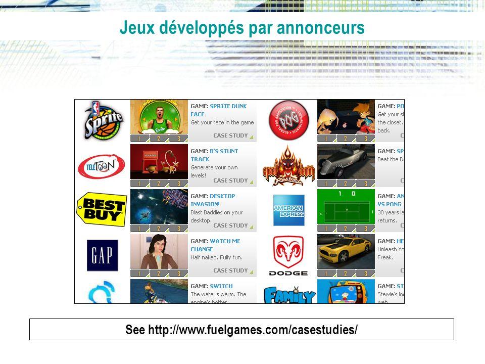 Jeux développés par annonceurs