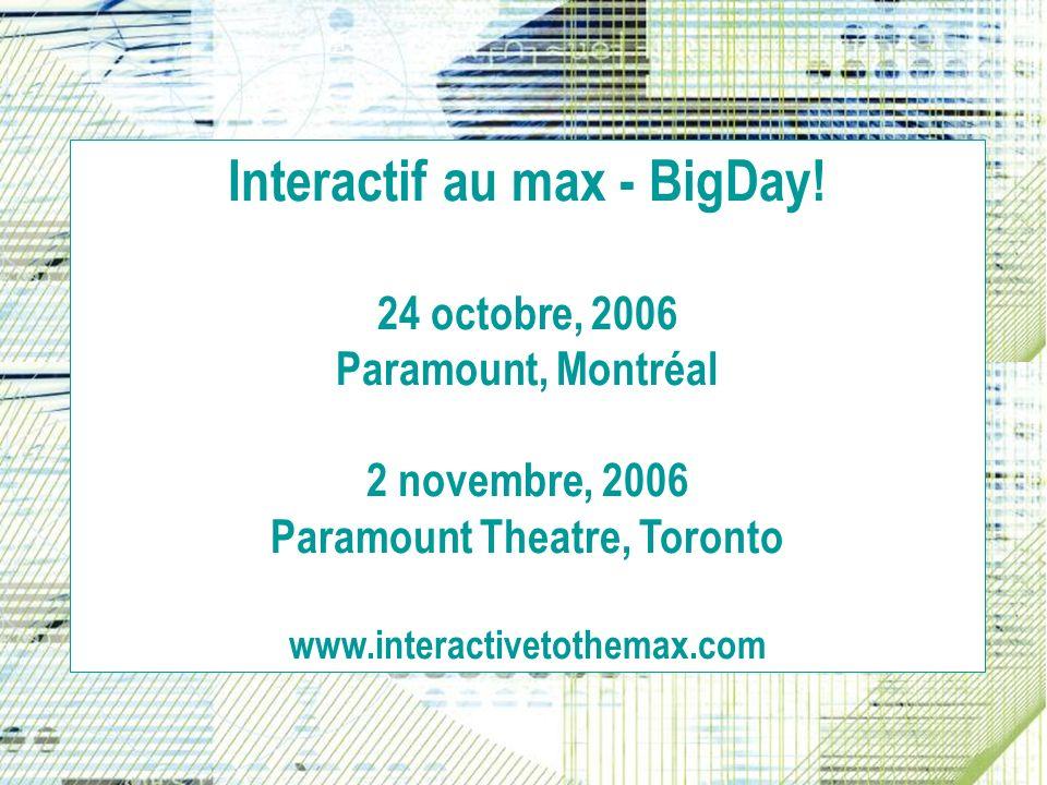 Interactif au max - BigDay