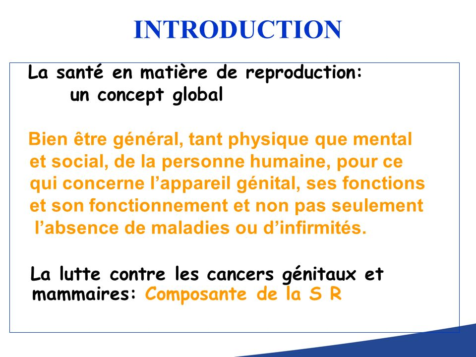 INTRODUCTION un concept global