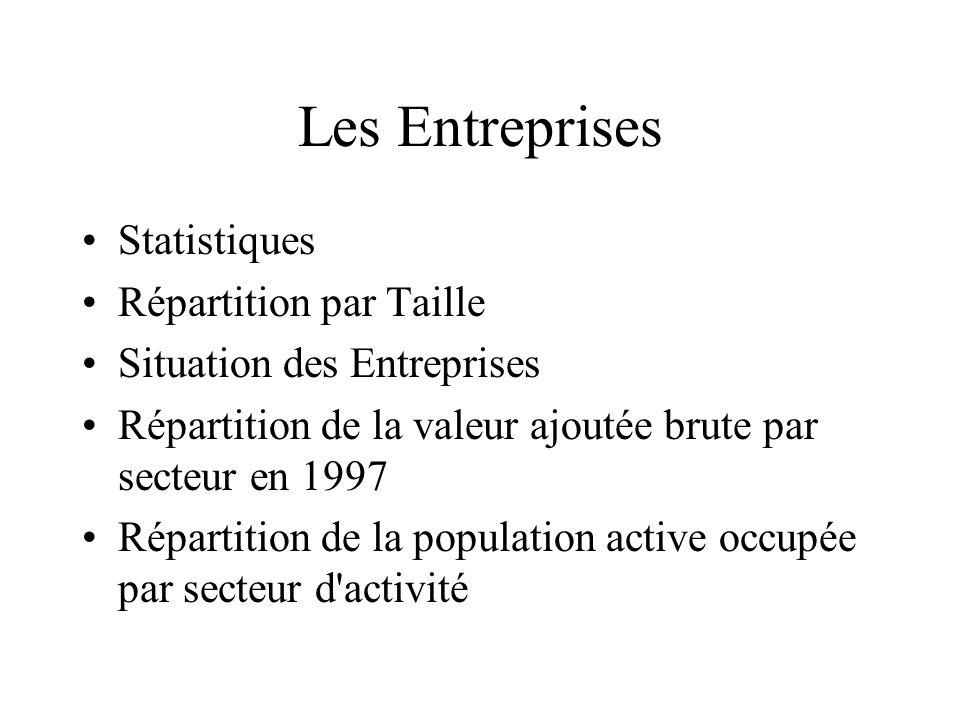 Les Entreprises Statistiques Répartition par Taille