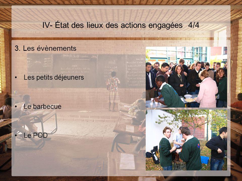 IV- État des lieux des actions engagées 4/4