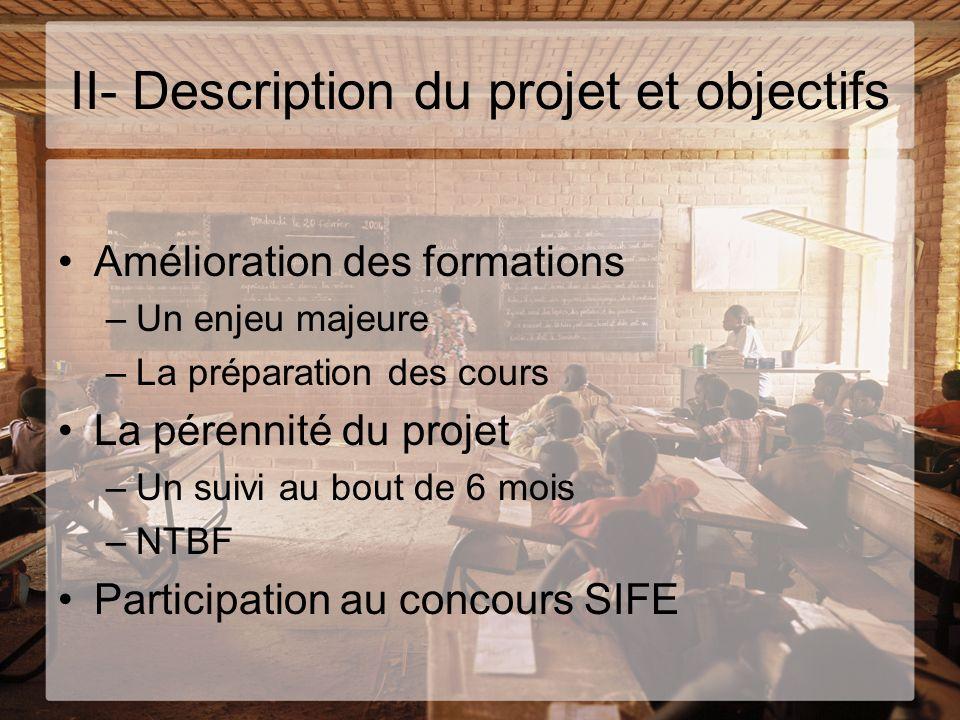 II- Description du projet et objectifs