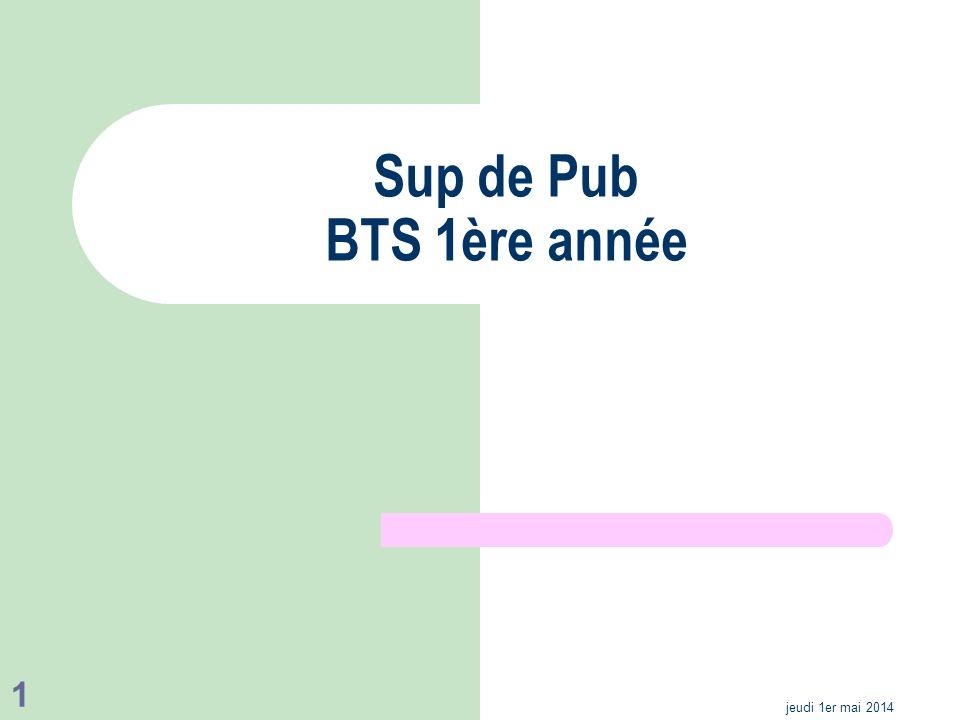 Sup de Pub BTS 1ère année