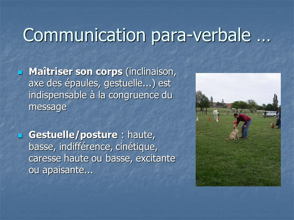 Communication para-verbale …