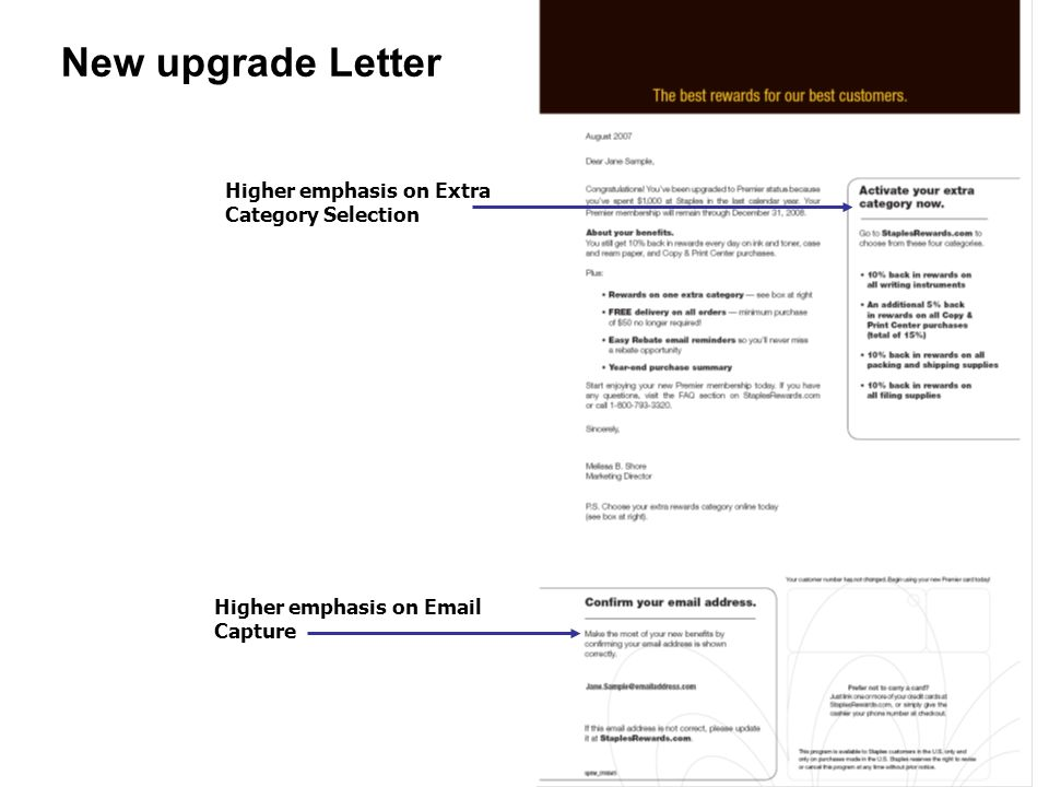 New upgrade Letter Higher emphasis on Extra Category Selection