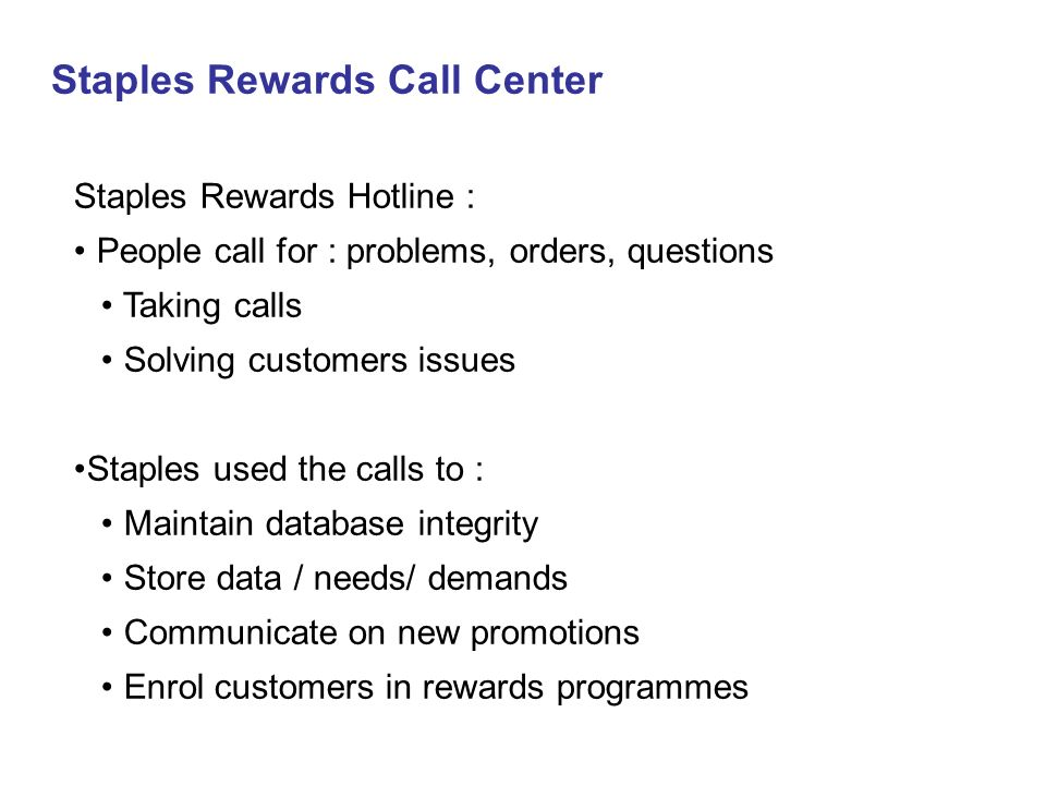 Staples Rewards Call Center